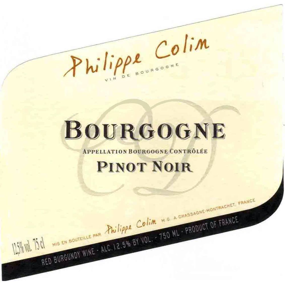 Philippe Colin Bourgogne Rouge 2017  Front Label