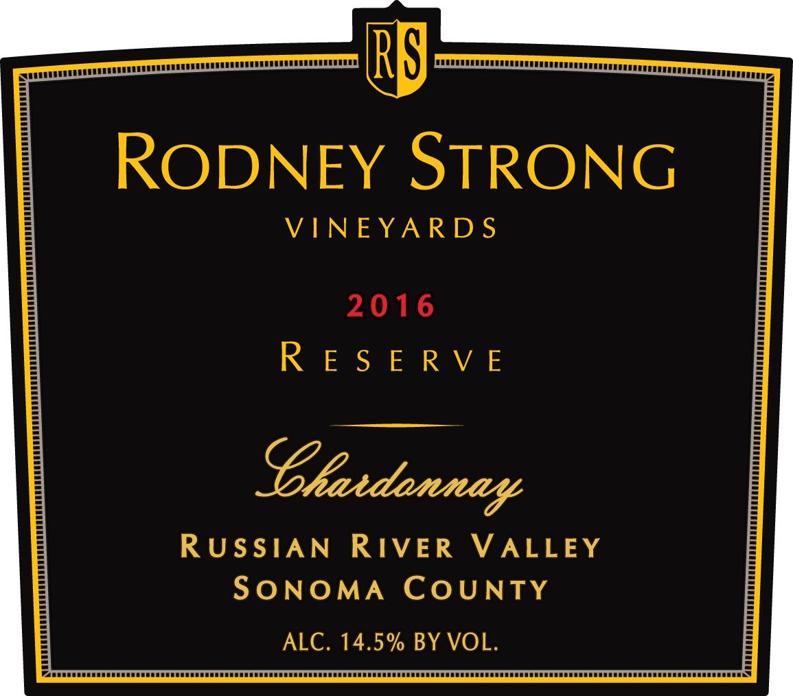 Rodney Strong Reserve Chardonnay 2016  Front Label