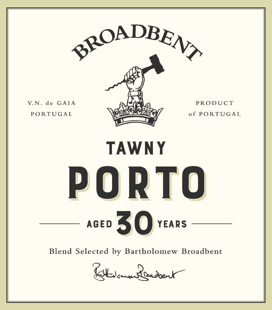 Broadbent 30 Year Tawny Port  Front Label
