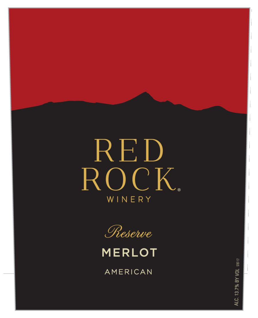 Red Rock Merlot  Front Label