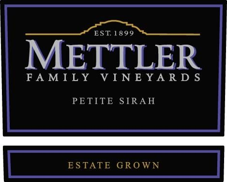 Mettler Family Vineyards Petite Sirah 2017  Front Label