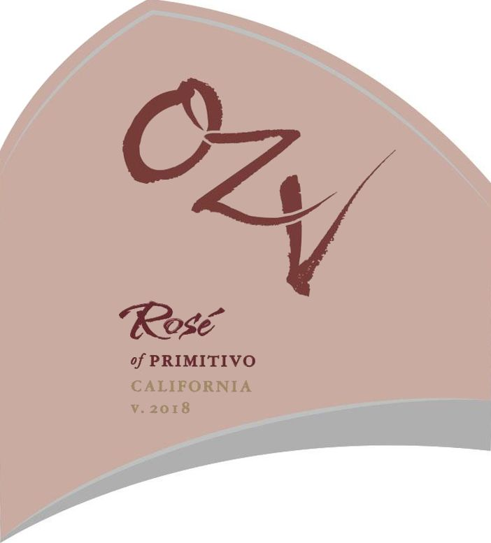 OZV Rose of Primitivo 2018 Front Label