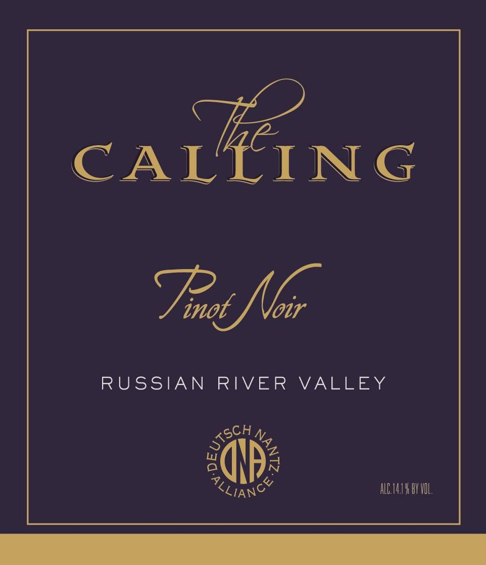 The Calling Russian River Pinot Noir 2018  Front Label
