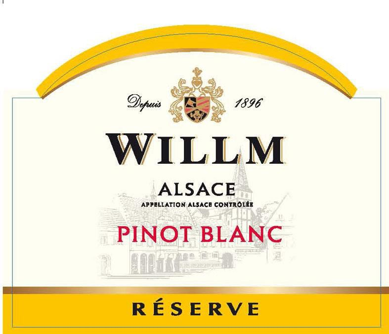 Alsace Willm Pinot Blanc Reserve 2016  Front Label