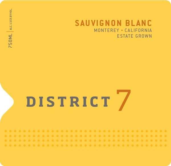 District 7 Sauvignon Blanc 2015 Front Label