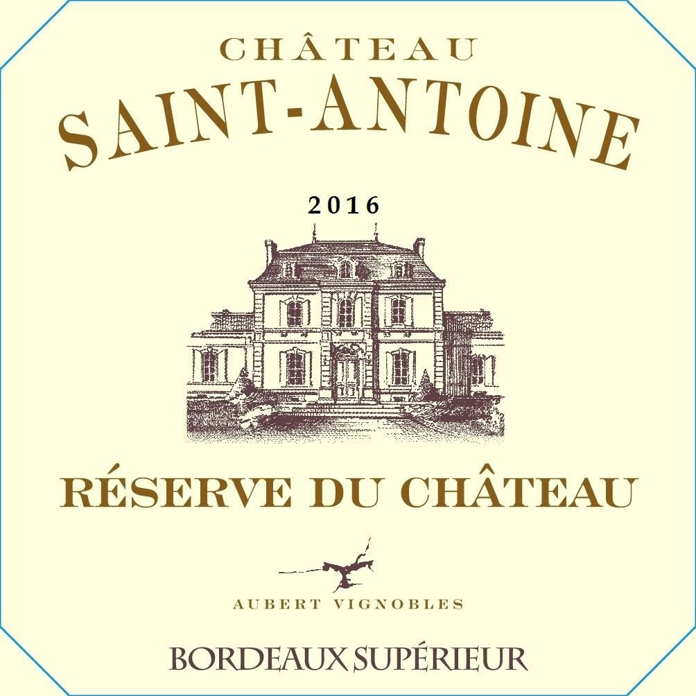 Chateau Saint-Antoine Reserve du Chateau Bordeaux Superieur 2016 Front Label