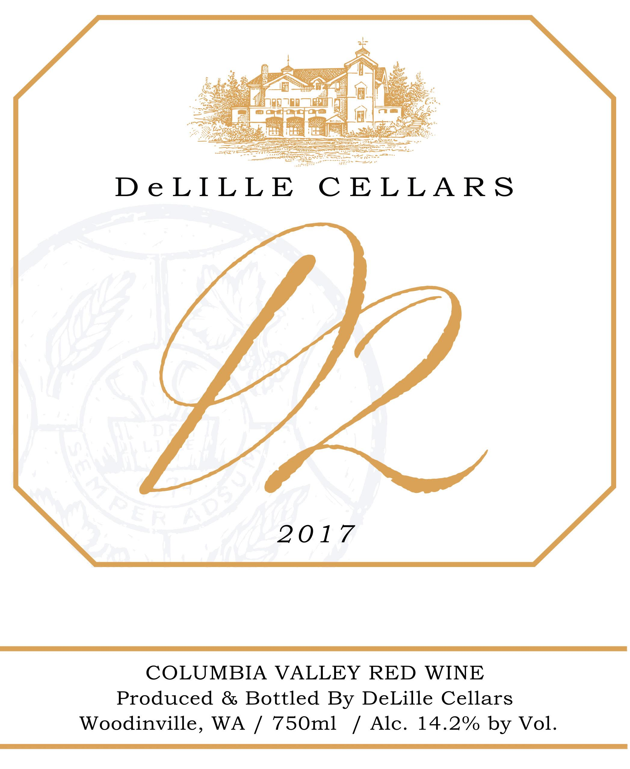 DeLille D2 Estate Red 2017  Front Label