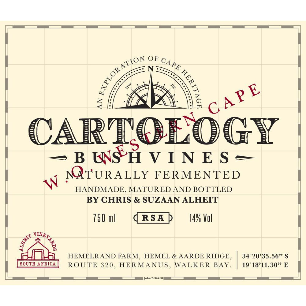 Alheit Cartology 2016  Front Label