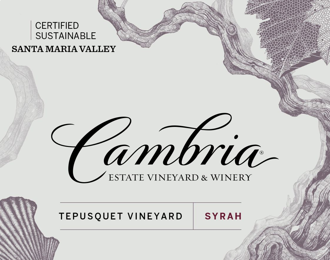 Cambria Tepusquet Vineyard Syrah 2014  Front Label