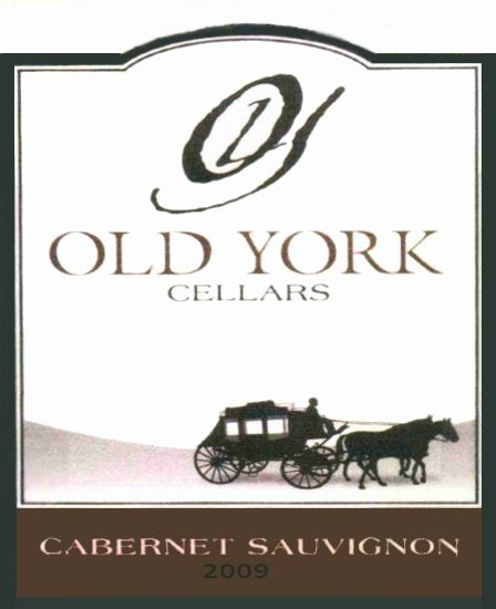 Old York Cellars Cabernet Sauvignon 2009  Front Label