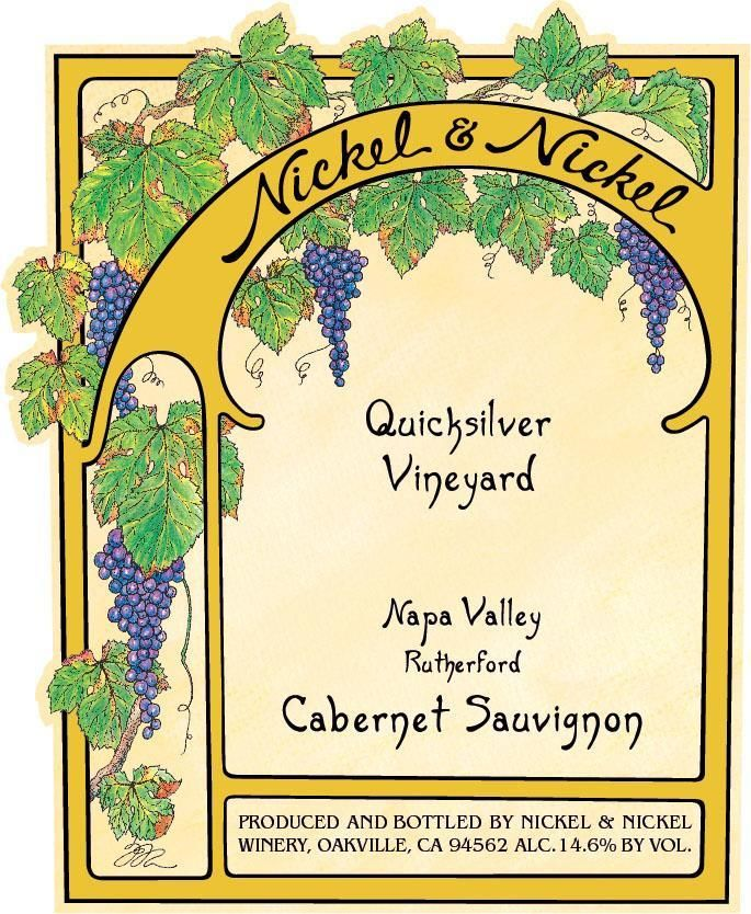 Nickel & Nickel Quicksilver Cabernet Sauvignon 2017  Front Label