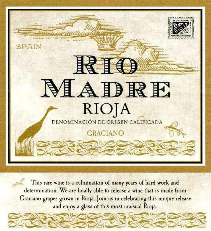 Bodegas y Vinedos Ilurce Rio Madre Graciano 2018  Front Label