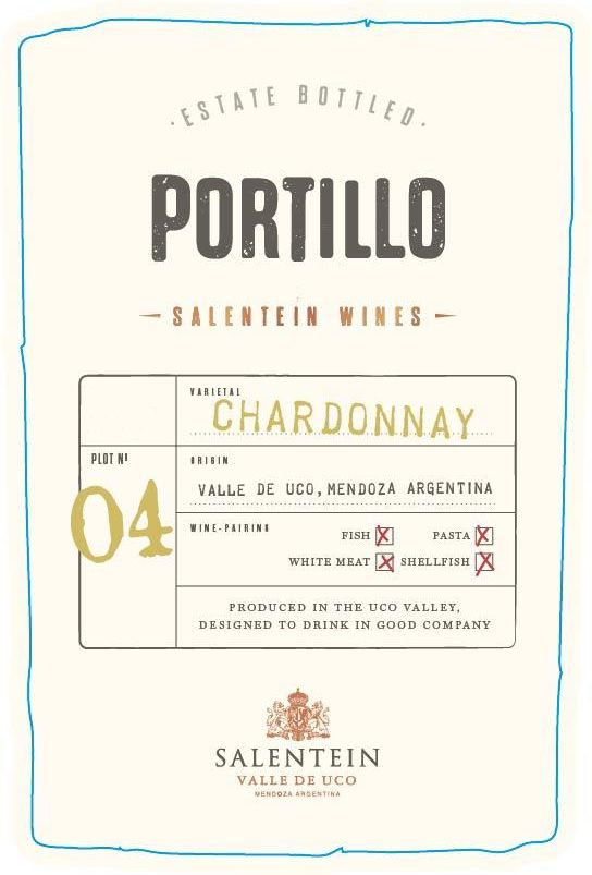 Portillo Chardonnay 2019  Front Label