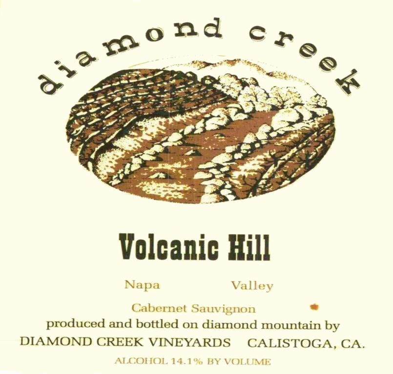 Diamond Creek Volcanic Hill Cabernet Sauvignon 1998  Front Label