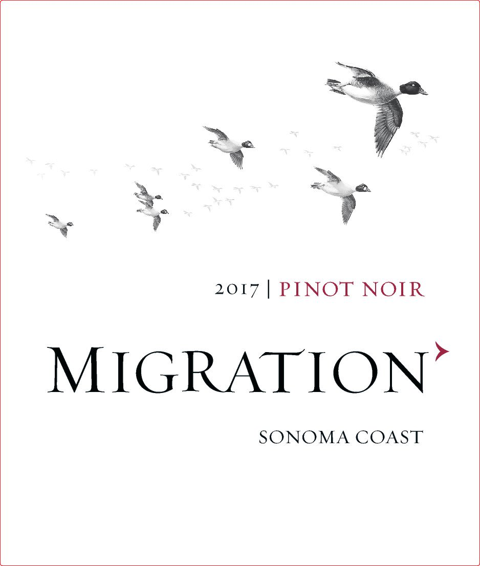 Migration Sonoma Coast Pinot Noir (375ML half-bottle) 2017  Front Label