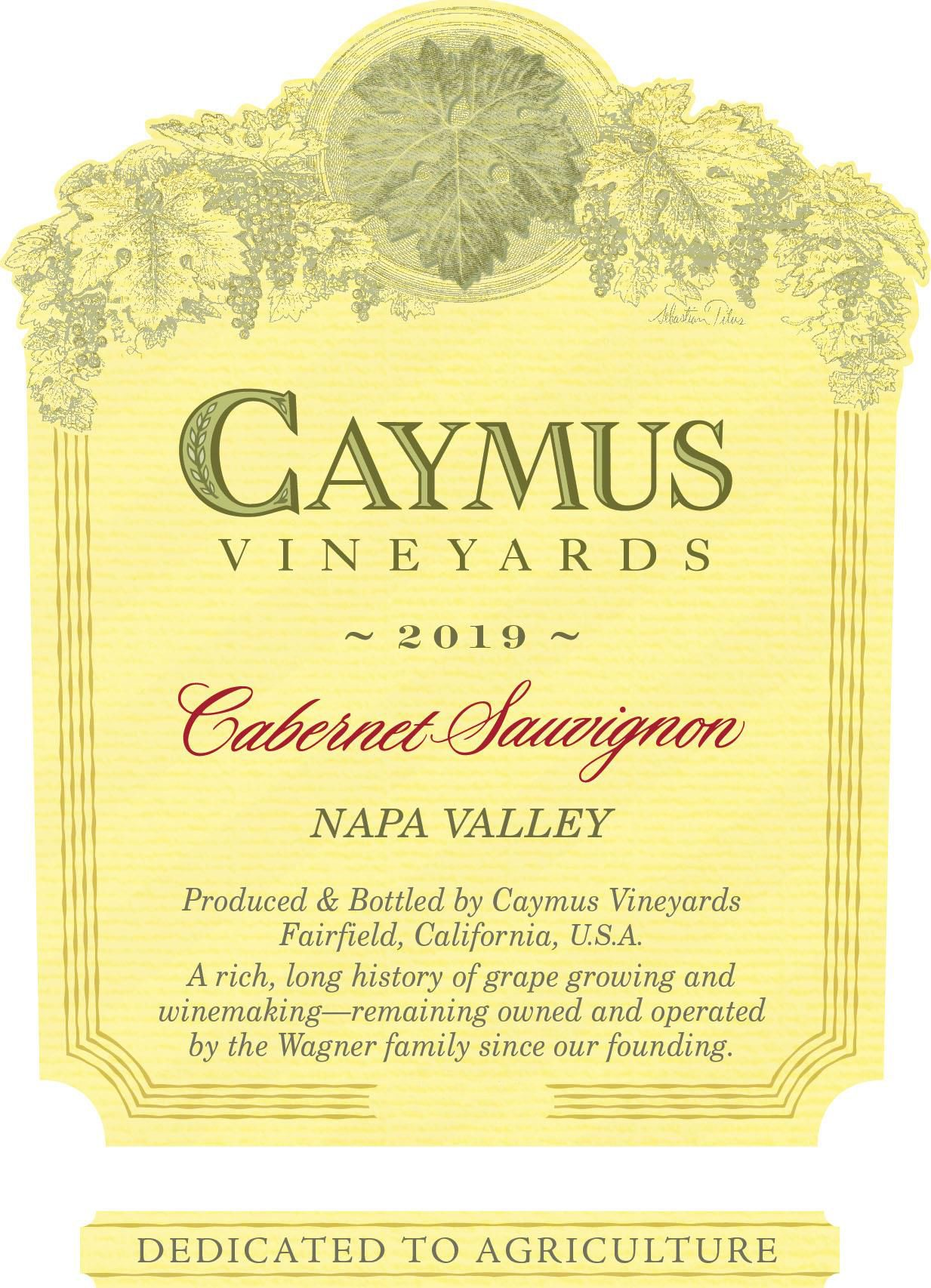 Caymus Napa Valley Cabernet Sauvignon (1 Liter Bottle) 2019  Front Label