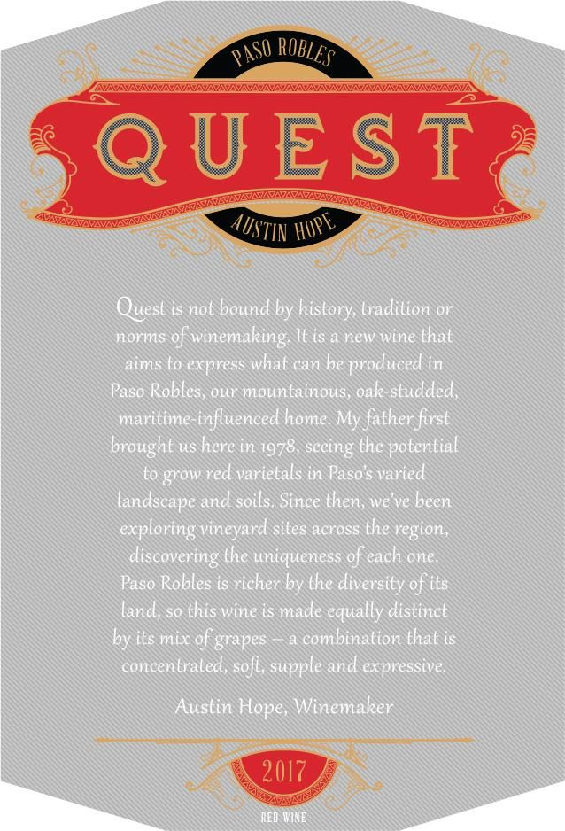 Quest Proprietary Red 2017  Front Label