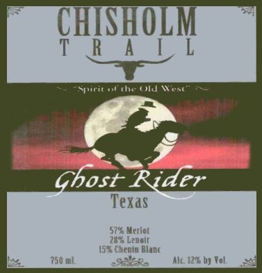 Chisholm Trail Winery Ghost Rider Red 2013 Front Label
