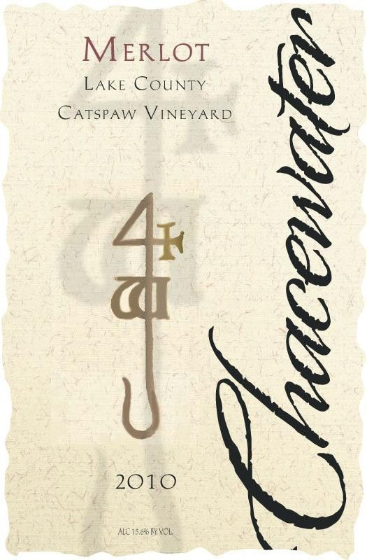 Chacewater Winery Cat's Paw Merlot 2010  Front Label