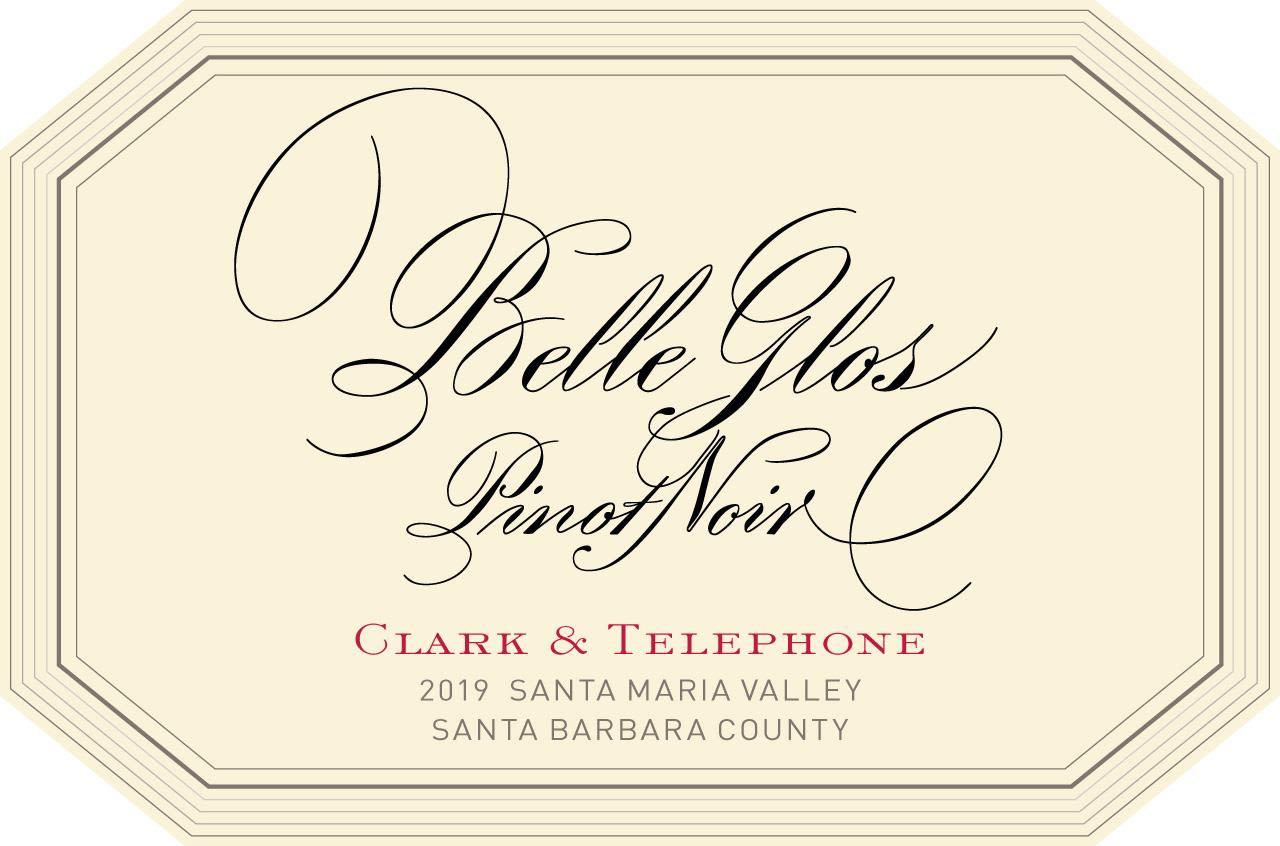 Belle Glos Clark and Telephone Vineyard Pinot Noir 2019  Front Label
