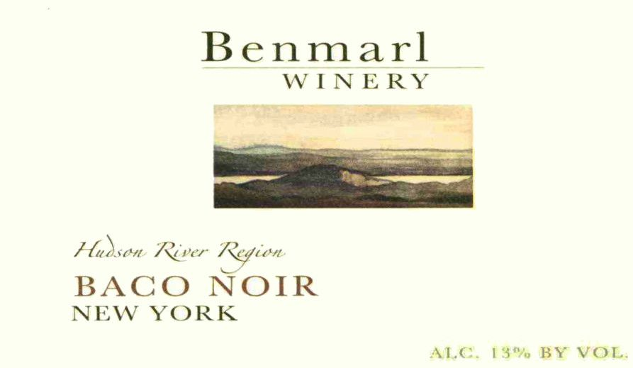 Benmarl Vineyards & Winery Baco Noir 2009 Front Label