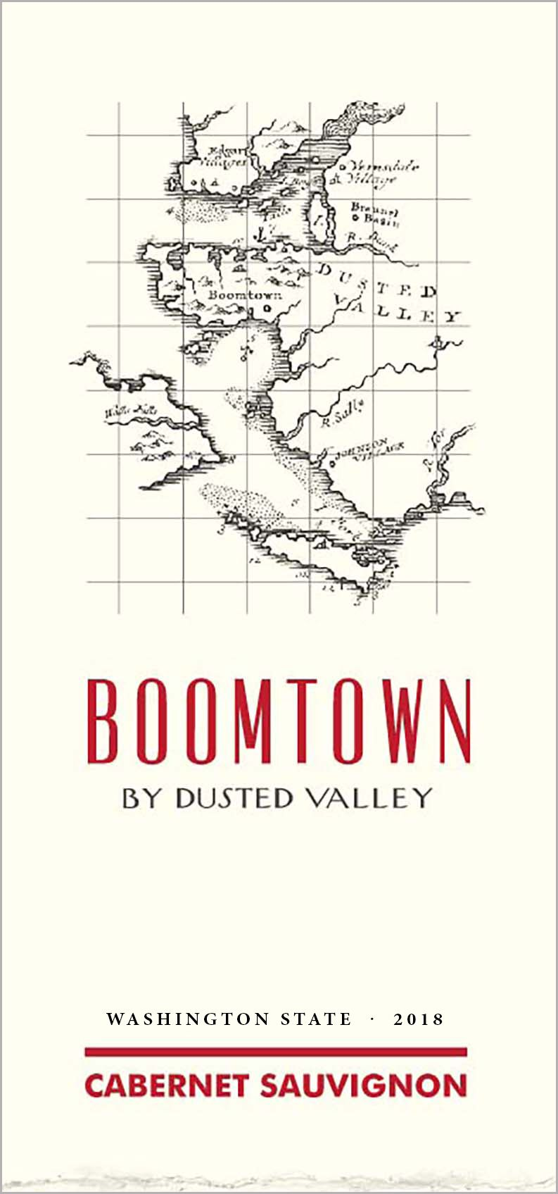 Boomtown by Dusted Valley Cabernet Sauvignon 2018  Front Label