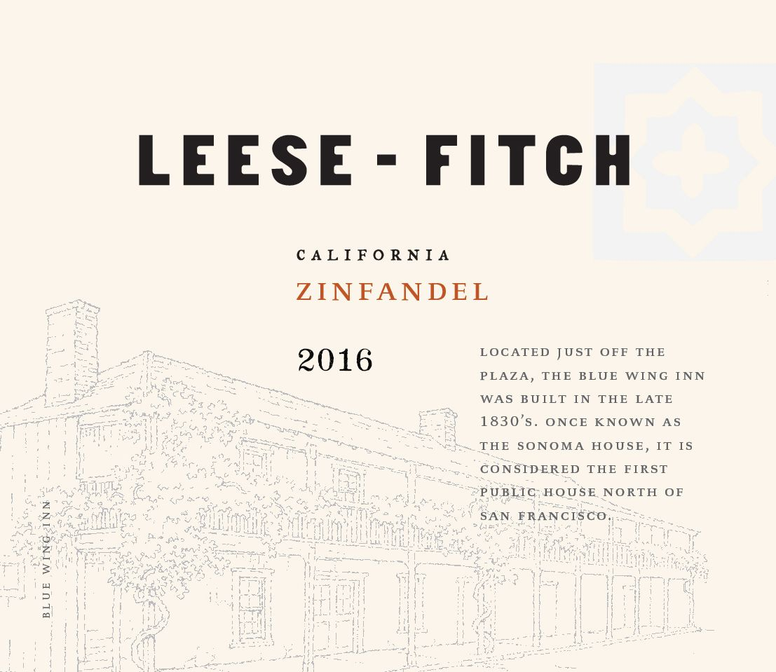 Leese-Fitch Zinfandel 2016  Front Label