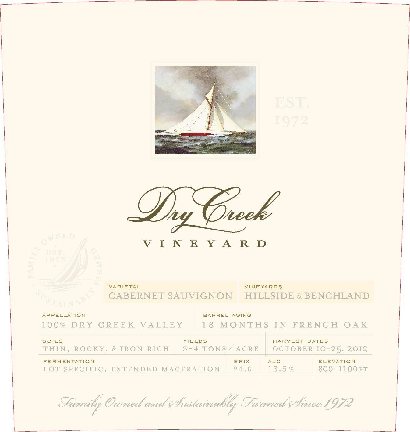 Dry Creek Vineyard Cabernet Sauvignon (375ML half-bottle) 2017  Front Label