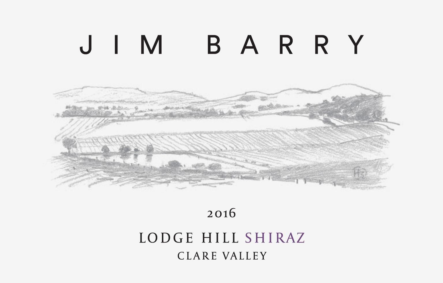 Jim Barry Lodge Hill Shiraz 2016  Front Label