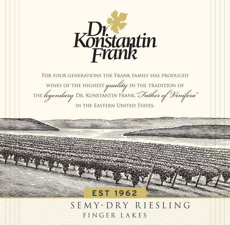 Dr. Konstantin Frank Semi Dry Riesling 2017 Front Label