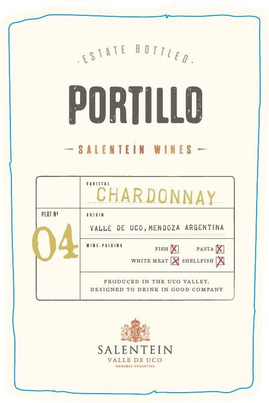 Portillo Chardonnay 2018 Front Label