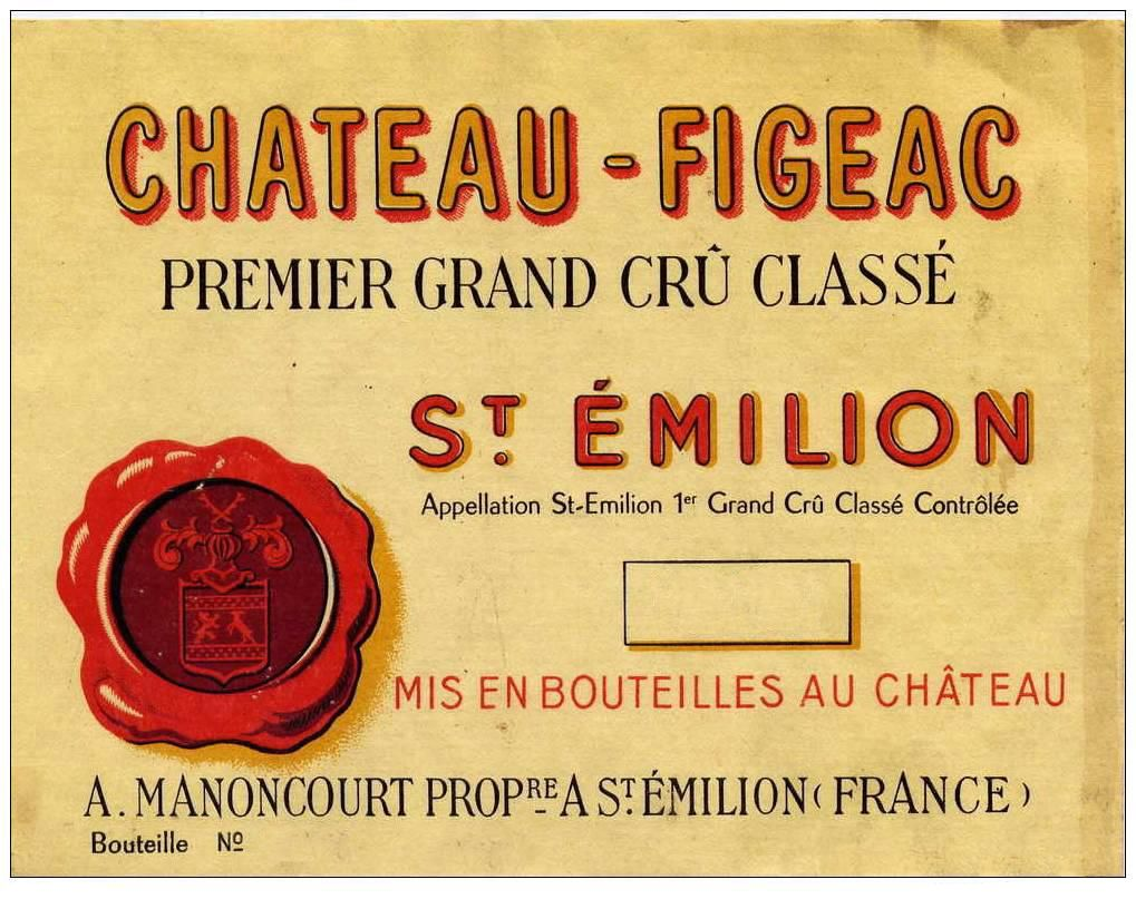 Chateau Figeac  1971  Front Label