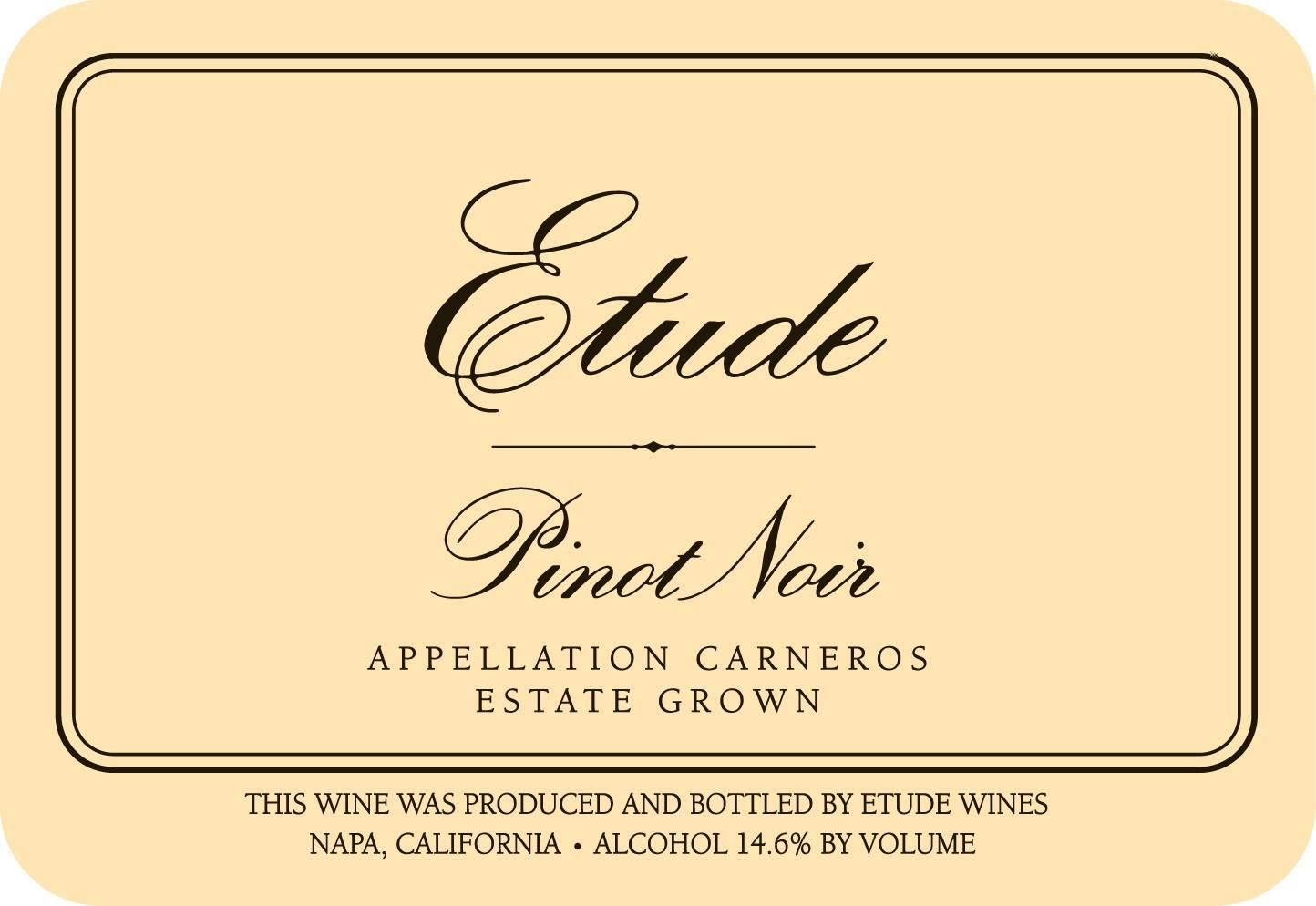 Etude Carneros Estate Pinot Noir (375ML half-bottle) 2017  Front Label