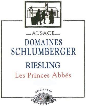 Domaines Schlumberger Les Princes Abbes Riesling 2015 Front Label