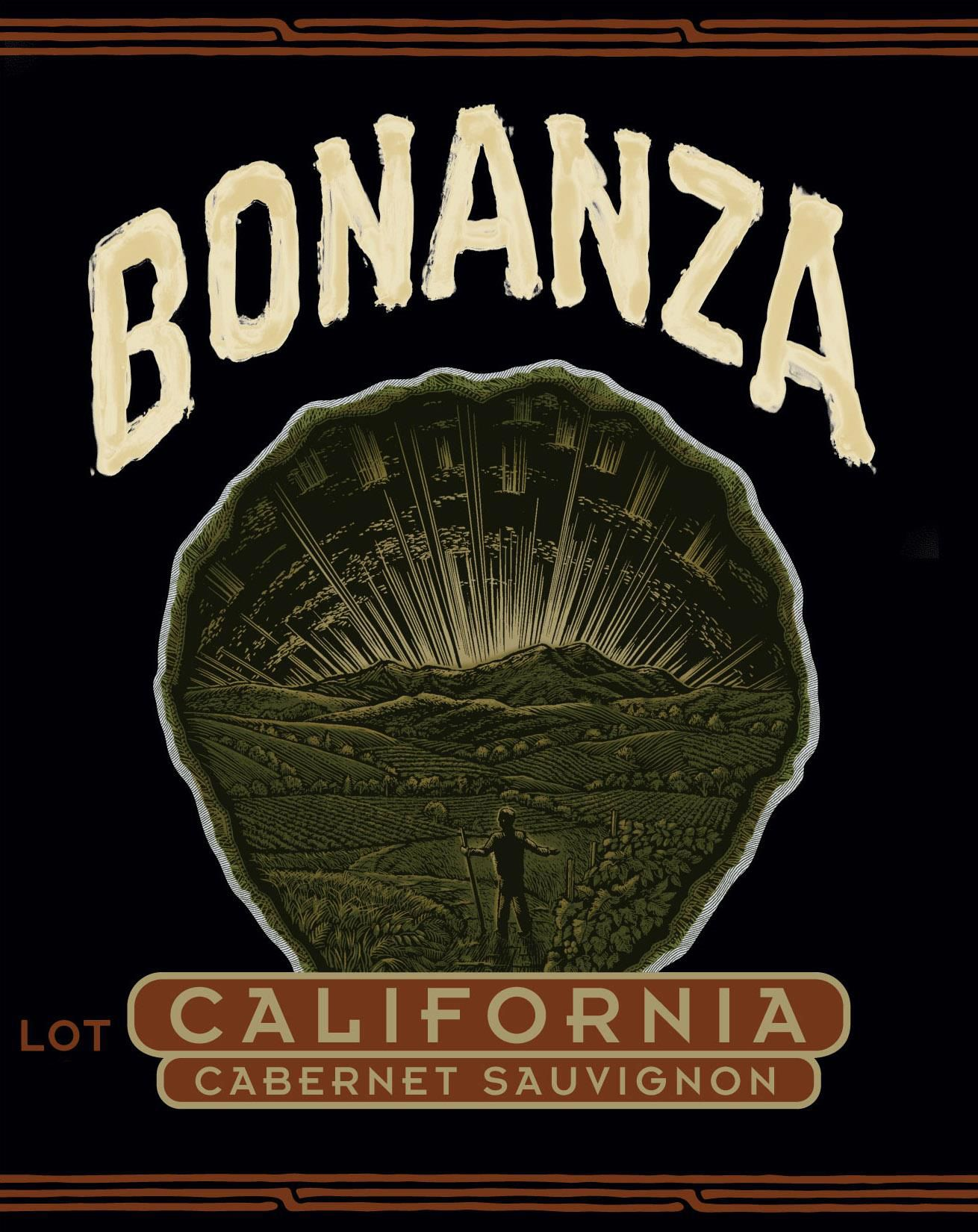 Bonanza by Chuck Wagner California Cabernet Sauvignon Lot 2  Front Label