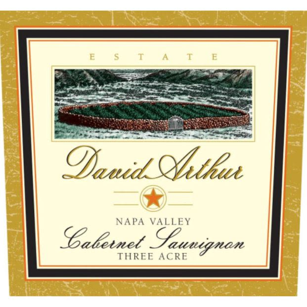 David Arthur Three Acre Cabernet Sauvignon 2015 Front Label