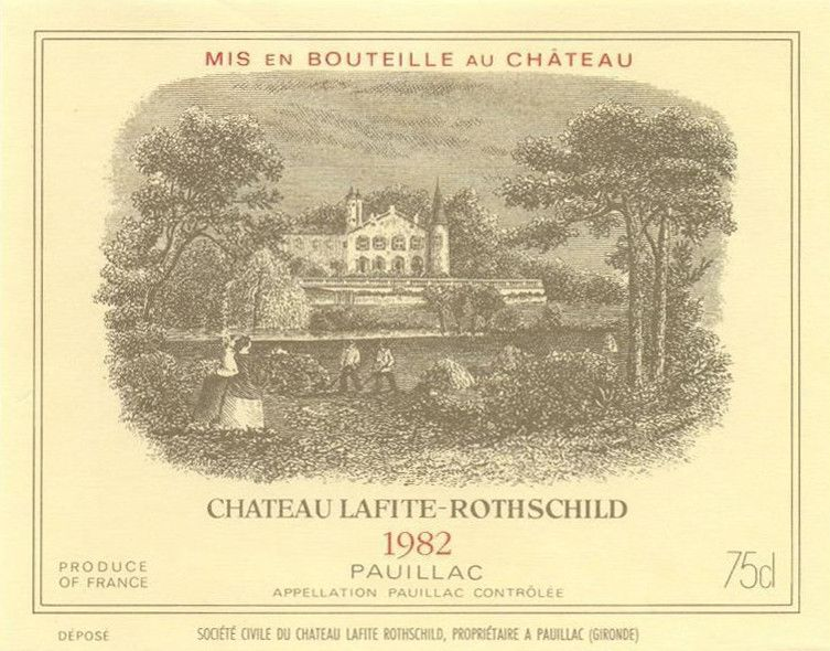 Chateau Lafite Rothschild  1982  Front Label