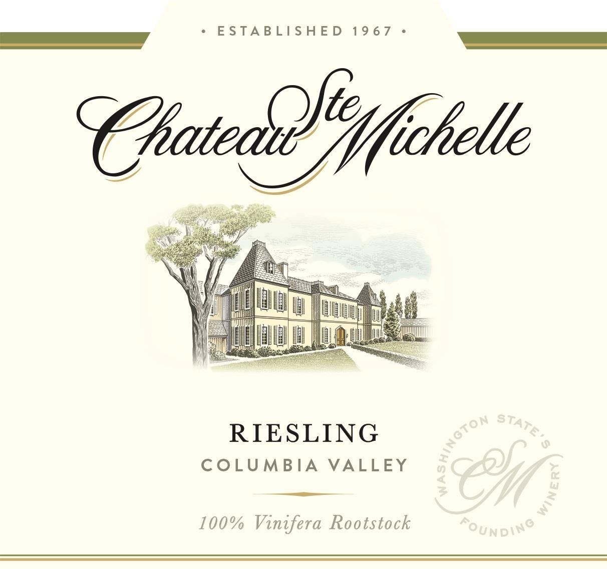 Chateau Ste. Michelle Riesling 2019  Front Label
