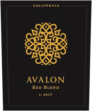 Avalon Red Blend 2017  Front Label