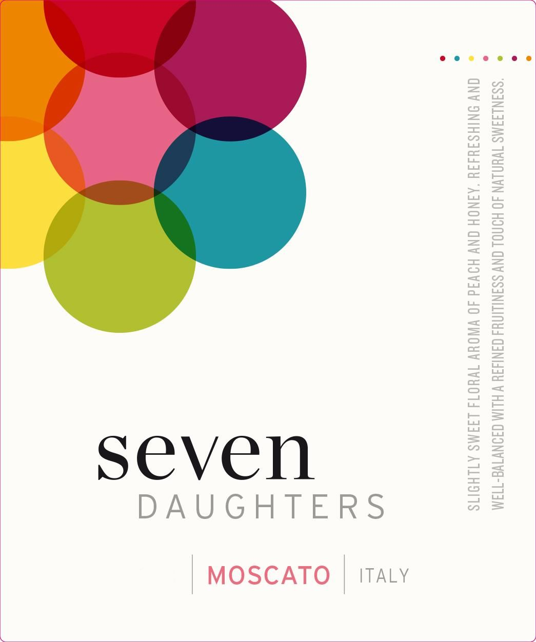 Seven Daughters Moscato 2018  Front Label