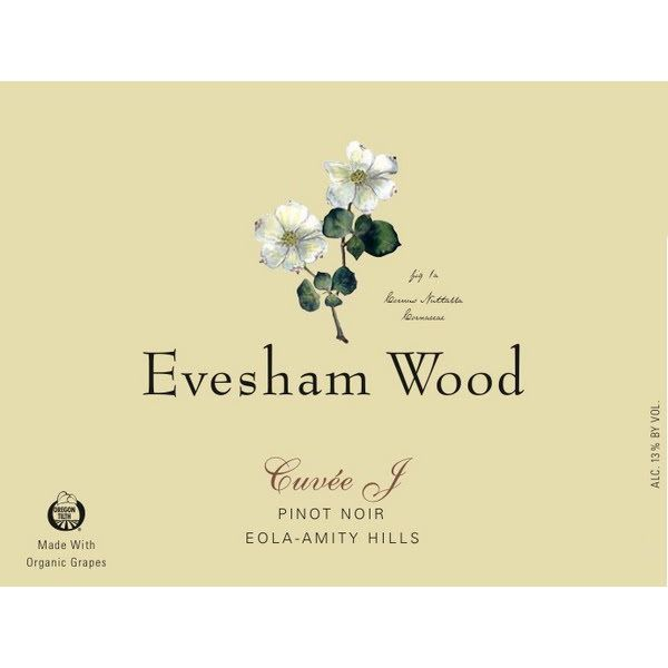 Evesham Wood Cuvee J Pinot Noir 2018  Front Label