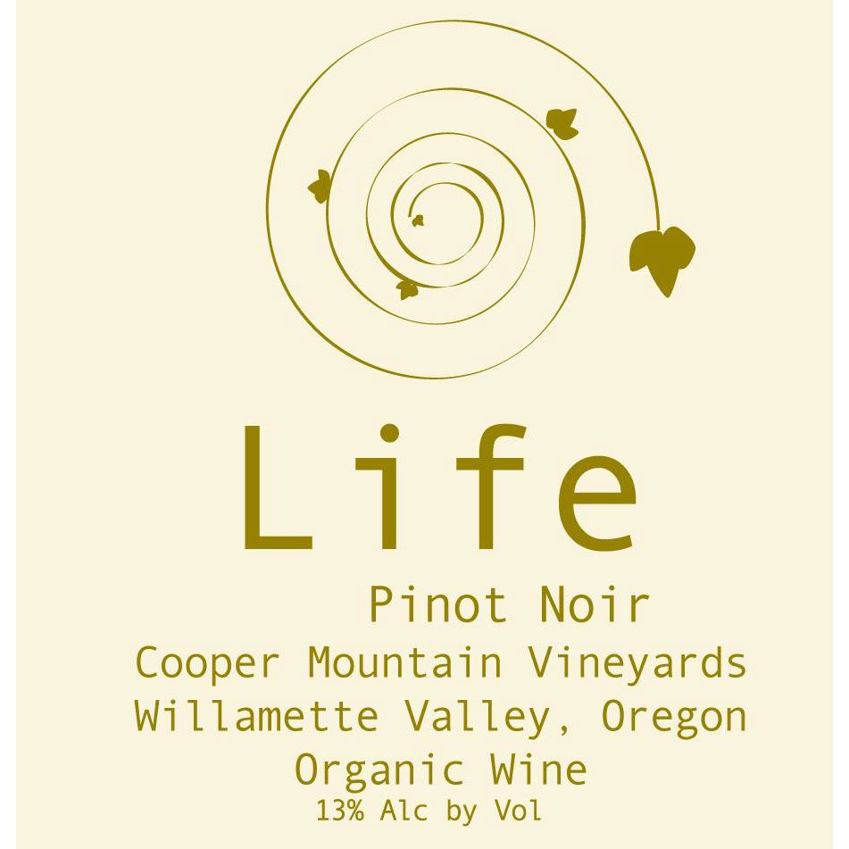 Cooper Mountain Life Pinot Noir 2018  Front Label