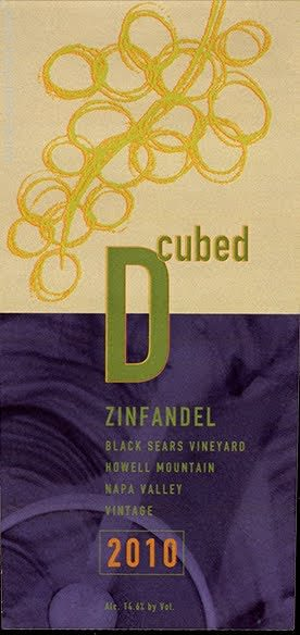 D-Cubed Cellars Black Sears Howell Mountain Zinfandel 2010 Front Label