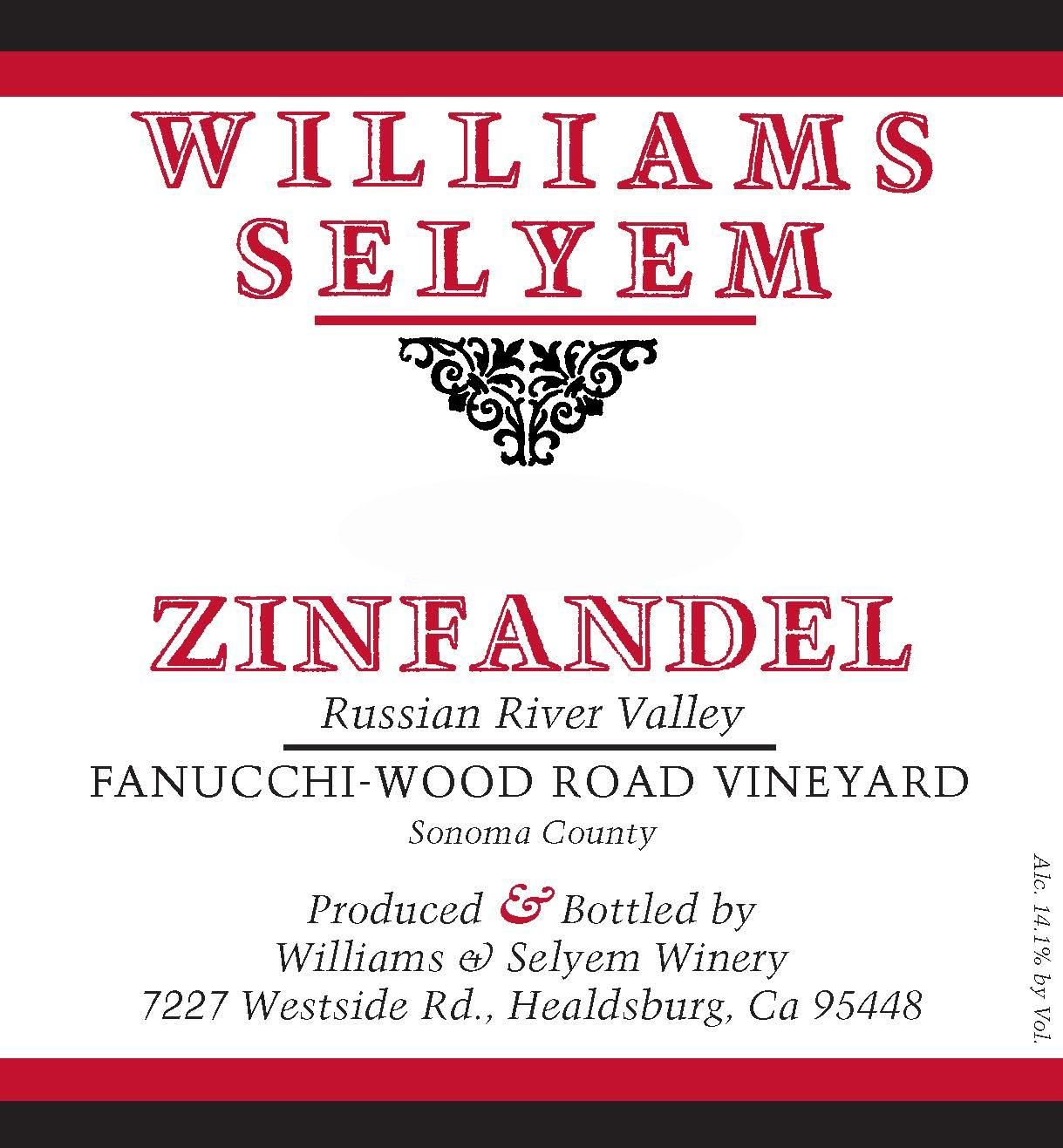 Williams Selyem Fanucchi-Wood Road Zinfandel 2017 Front Label