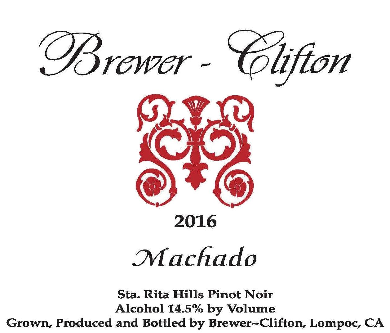 Brewer-Clifton Machado Pinot Noir 2016 Front Label