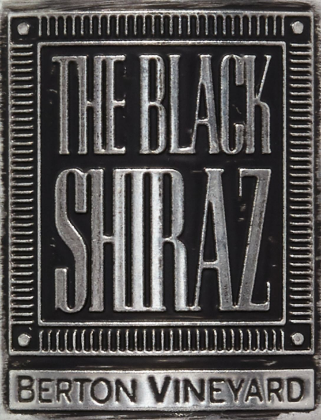 Berton Vineyards Metal Label The Black Shiraz 2018  Front Label