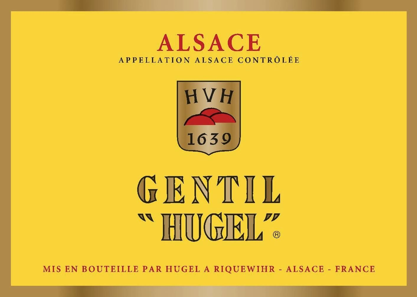 Hugel Gentil 2018 Front Label