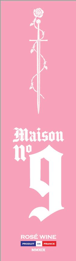 Maison No. 9 - A Post Malone Project Rose 2019  Front Label