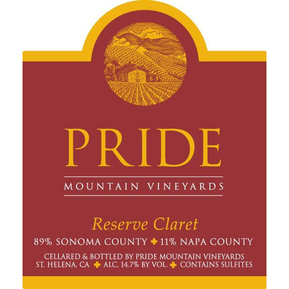 Pride Mountain Vineyards Reserve Claret 2001  Front Label