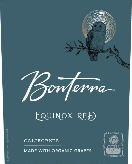 Bonterra Organically Grown Equinox Red Blend 2017 Front Label